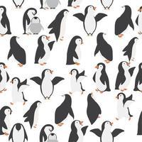 nahtloses Muster des glücklichen Pinguinfamilienhintergrunds vektor