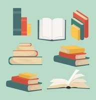 travar av böcker samling vektor