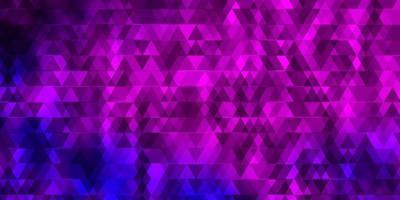 ljusrosa, blå vektorbakgrund med linjer, trianglar. vektor