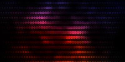 mörkrosa, gul vektorbakgrund med cirklar. vektor