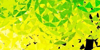 hellgrüner, gelber Vektorhintergrund mit Dreiecken.