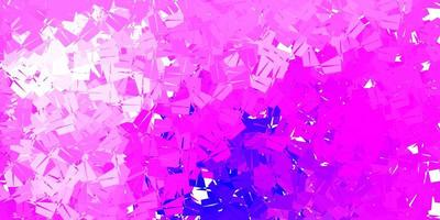 ljus lila, rosa vektor triangel mosaik mönster.