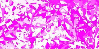 hellrosa Vektormuster mit polygonalen Formen. vektor