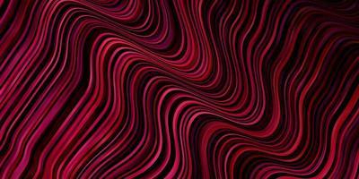 ljusrosa, röd vektor bakgrund med kurvor.
