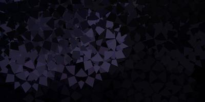 dunkelgrauer Vektorhintergrund mit polygonalen Formen.