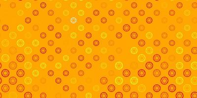 ljus orange vektor mönster med magiska element.