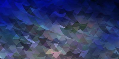 ljusblå, gul vektorbakgrund med trianglar, rektanglar. vektor