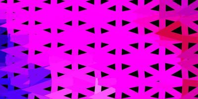 mörk lila, rosa vektor triangel mosaik mönster.