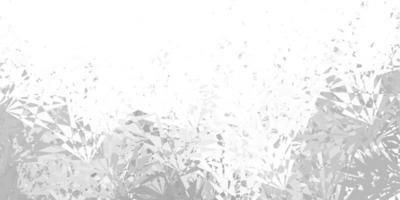 hellgrauer Vektorhintergrund mit Dreiecken, Linien.