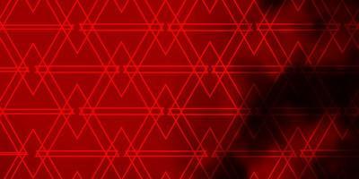 mörk orange vektor mönster med månghörnigt stil.