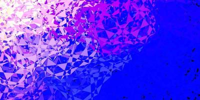hellrosa, blauer Vektorhintergrund mit Dreiecken. vektor