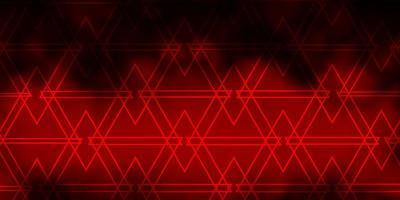 mörk orange vektor bakgrund med trianglar.