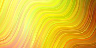 hellrosa, gelbe Vektorschablone mit Linien. vektor