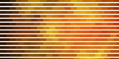 mörkgrönt, gult vektormönster med linjer.