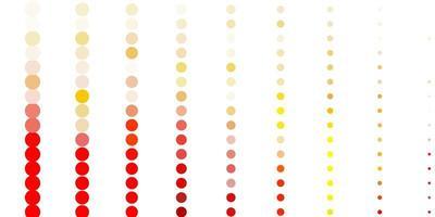 ljusrosa, gul vektormall med cirklar. vektor