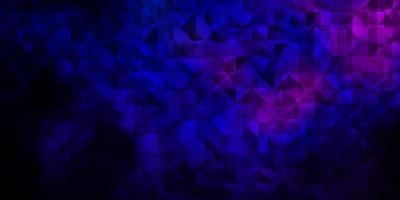 dunkelrosa, blaue Vektorbeschaffenheit mit dreieckigem Stil. vektor