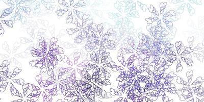 ljusrosa, blå vektor abstrakt mall med blad.