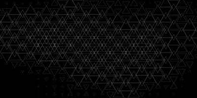 mörkgrå vektormönster med polygonal stil.