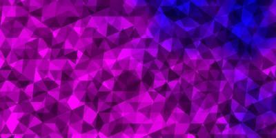 ljuslila, rosa vektorbakgrund med trianglar. vektor