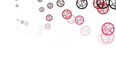 ljusrosa, röd vektorstruktur med religionssymboler.