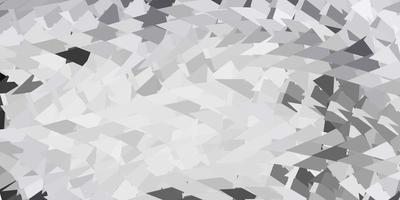 geometrisches polygonales Layout des hellgrauen Vektors.