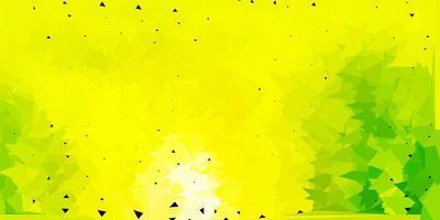 hellgrüner, gelber Vektordreieckmosaikhintergrund. vektor