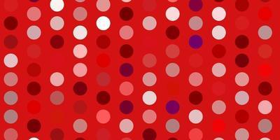 ljusrosa, röd vektor bakgrund med prickar.