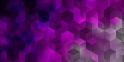 ljusrosa vektorbakgrund med uppsättning hexagoner. vektor