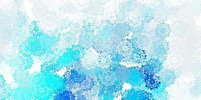 hellblaue Vektorschablone mit Eisschneeflocken. vektor