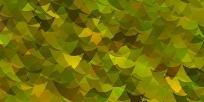 ljusgult vektormönster med polygonal stil med kuber. vektor