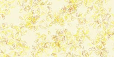 ljusgult vektorabstrakt mönster med löv. vektor