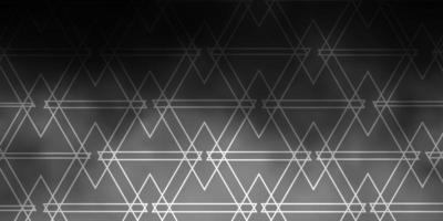 ljusgrå vektor mönster med månghörnigt stil.