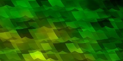 ljusgrön, gul vektorlayout med sexkantiga former. vektor