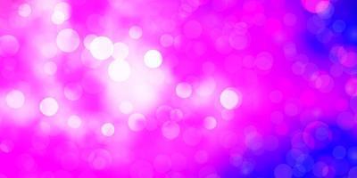 ljuslila, rosa vektormönster med cirklar. vektor