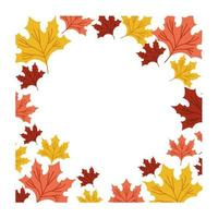 Herbstlaub botanischen Rahmen
