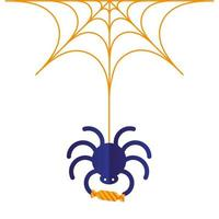 halloween spindel med godisvektordesign vektor