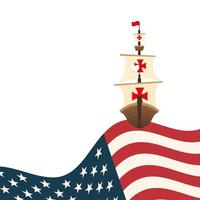 Christopher Columbus Schiff mit USA Vektor-Design