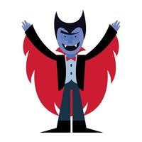 Halloween Vampir Cartoon Vektor Design