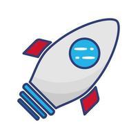 raket launcher platt stilikon vektor