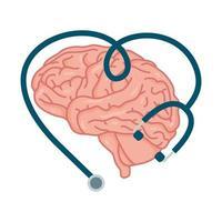 menschliches Gehirn, Symbol für psychische Gesundheit