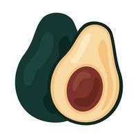 Avocados frisches Gemüse gesundes Lebensmittelikone