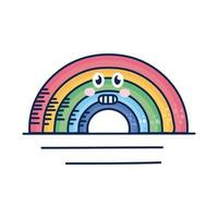 kawaii Regenbogen-Comicfigur