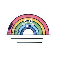 kawaii regnbåge komisk karaktär