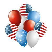 isolierte USA Ballons Vektor-Design