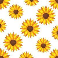 Hintergrund der Sonnenblumenpflanzenikonen vektor