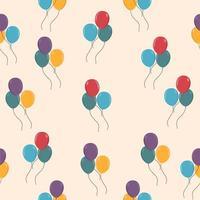 färgglada ballonger sömlös bakgrund vektor