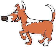 tecknad prickig hund rolig djur karaktär vektor