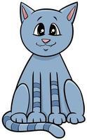 katt eller kattunge tecknad djur karaktär vektor