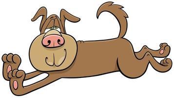 Comic-Stretching-Hund-Comic-Tierfigur vektor
