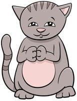 söt katt eller kattunge tecknad djur karaktär vektor